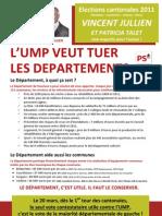 L'UMP veut tuer les départements