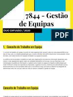 UFCD 7844 - Gestão de Equipa