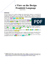 Another View on the Design of the Frankish Language