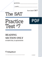 CB Test 7 Reading