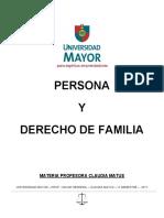 PERSONA Y DERECHO DE FAMILIA 2017