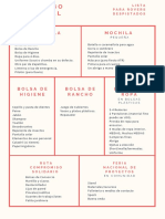 Lista de elementos necesarios MOOT
