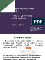 PPT Análisis Macroeconómico 08-7001 Tema II Economía mixta moderna
