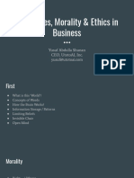 Challenges, Morality & Ethics in Business