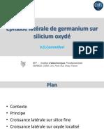 soutenance thèse épi taxie latérale de germanium sur silicium oxydé.
