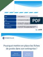 Mettre en Place Les Fiches de Poste 23072015
