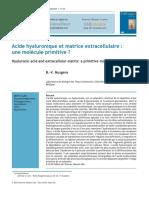 Nusgens, B. V. 2010. Acide hyaluronique et matrice extracellulaire