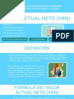 Valor Actual Neto (VAN)_698471192c45e596203283034acc0977