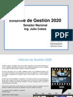 Informe de Gestión Julio Cobos 2020