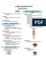 ANAPHY - Introduction to Anatomy and Physiology (NOTES)