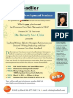 Professional Development Seminar with Dr. Beverly Ann Chin
