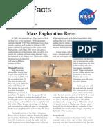 NASA Facts Mars Exploration Rover 2000