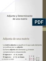 TEMA 2, 4 TA CLASE - MATRIZ ADJUNTA Y DETERMINANTE