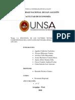 LA FALTA DE COMPETITIVIDAD EDUCATIVA EN LOS COLEGIOS RURALES.
