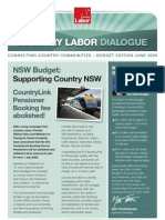 Country Labor Dialogue - Budget 2009