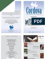 January 30, 2011 Cordova Church of Christ Schedule