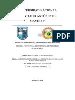 ASPECTOS IMPORTANTES EN LA CONSERVACION Y EMPACADO PARA CARNES FRESCAS