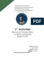 3ra actividad Glosario la Oferta y el Deposito