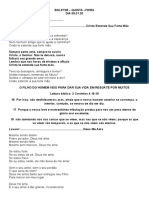 BOLETIM- QUINTA FEIRA - 02.01.20