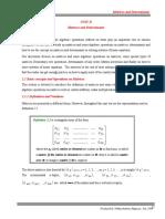 Unit II, Matrices and Determinants new.doc