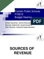 Franklin Public Schools FY2012 Budget Hearing