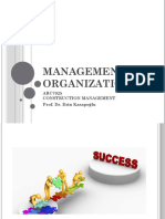 Construction management lecture   2nd and 3rd weeks_Management