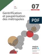 Gentrification et paupérisation des métropoles