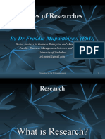 TYPES OF RESEARCHES