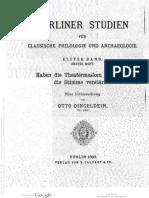 Dingeldein, Georg August Otto, Haben Die Theatermasken Der Alten Die Stimme Verstärkt?