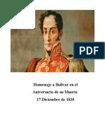 Homenaje a Simon Bolivar