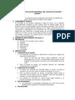 INSTRUCTIVO DE EVALUACIÓN SENSORIAL DEL CHOCOLATE OSCURO Y BLANCO