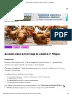 Business Model de l'élevage de volailles en Afrique. _ Senagriculture
