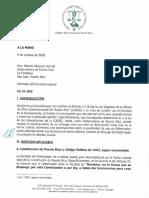 Carta de Ética a Wanda Vázquez
