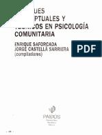 SAFORCADA E 2008 Enfoques conceptuales y tecnicos en psicologia Comunitaria caps 1y 2.pdf