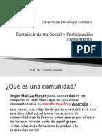 Clase  Fortalecimiento social y Participación Comunitaria