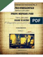 CUATRO PREGUNTAS. Bambuco. Pedro Morales Pino. Transc. piano Gerardo Betancourt.