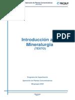 Introducción a la mineralurgia Texto