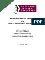 vorläufiges Modulhandbuch vom 05.06.2018