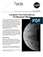 NASA Facts a Dispatch From Planet Mercury the Messenger Mission