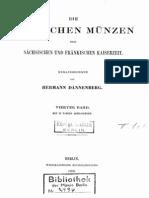 Die deutschen Münzen der sächsischen und fränkischen Kaiserzeit. Bd. IV / hrsg. von Hermann Dannenberg