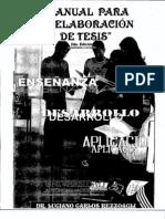 Manual Para La Elaboracion de Tesis