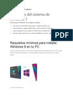 Requisitos para instalar windows