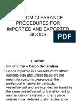 Custom Clearance Procedures