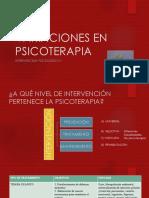 VARIACIONES EN PSICOTERAPIA 1