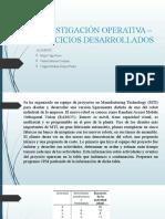 INVESTIGACIÓN OPERATIVA _ EJERCICIOS DESARROLLADOS
