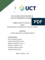 LEGITIMIDAD DE LOS TITULOS VALORES