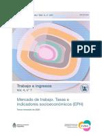 Mercado Trabajo, desocupación en Argentina, 3º trimestre 2020 - INDEC