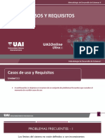 2.1. Casos de Uso y Requisitos - problemas frecuentes
