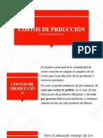 COSTOS DE PRDUCCIÓN