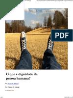 O que é dignidade da pessoa humana_ _ Por Thiago M. Minagé